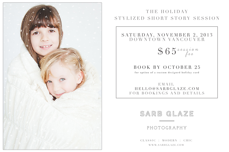 The Holiday Stylized Short Story Session | Vancouver Children's Photography