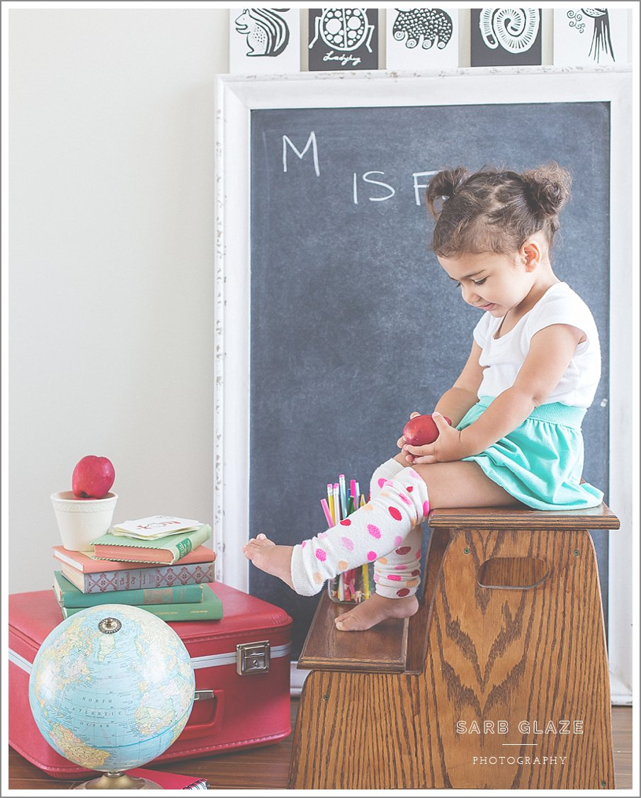 Little Ms. M – Back to School | Vancouver Children's Photography (Natural Light Studio)